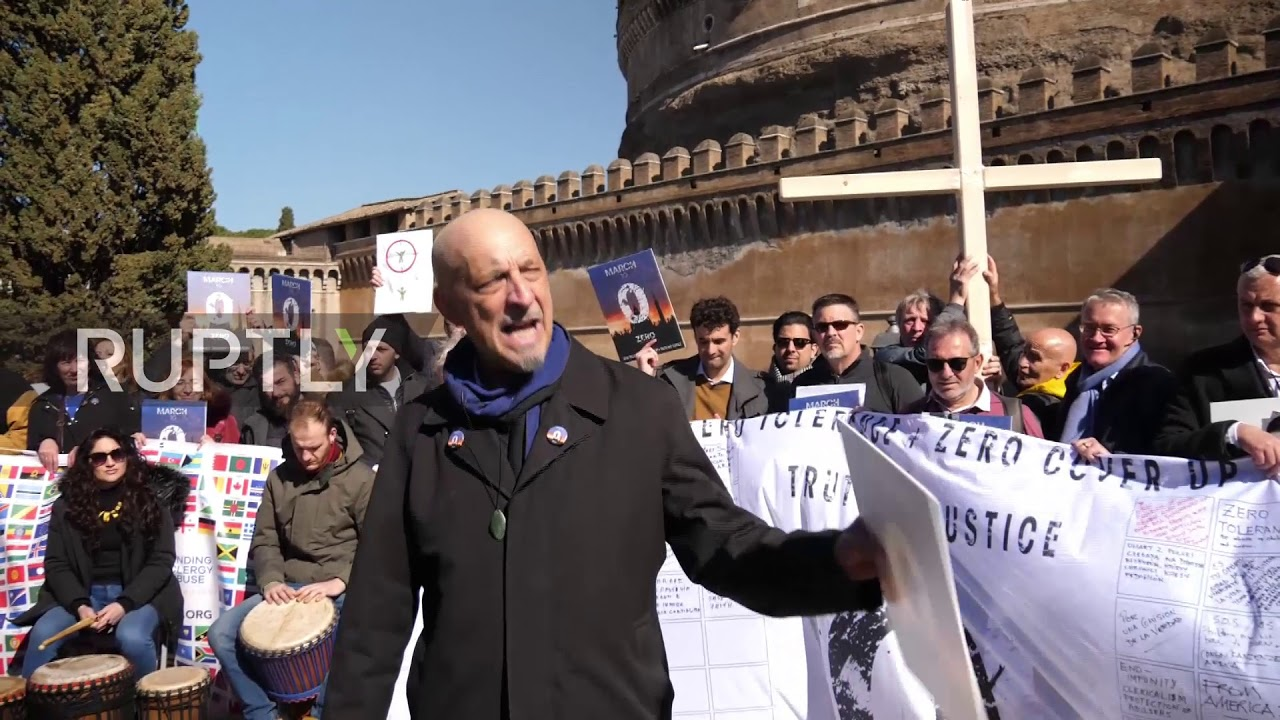 Italy: Sex abuse survivors protest in Rome as abuse summit ...