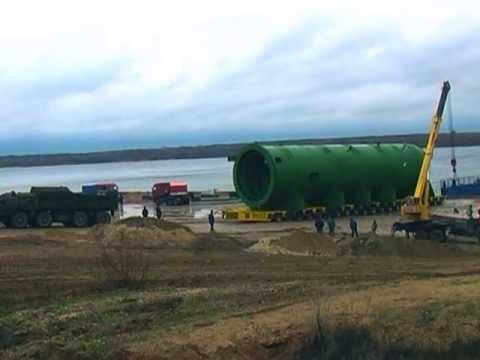 Ижора-Кстово, перевозка реактора гидрокрекинга 800 тонн