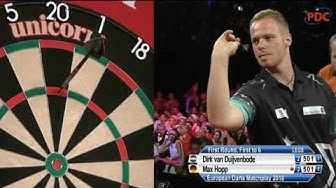 Max Hopp 9 Darter Attempt | European Darts Matchplay 2018