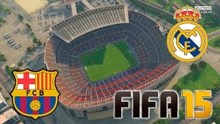 Barcelona - Real Madrid   FIFA 15   Camp Nou
