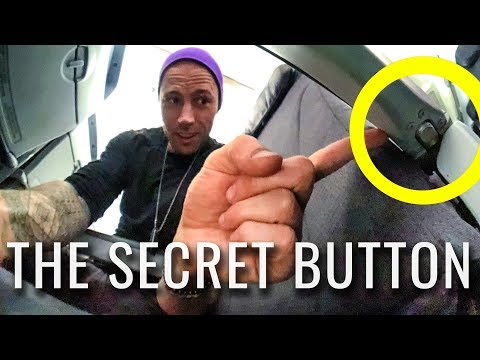 Travel Hacks SECRET LEGROOM BUTTON | Airport & Airplane Tips 2018
