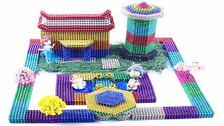 DIY - How To Make Beautiful Rainbow Garden Villa With Magnetic Balls (100% Satisfying and Relaxing)