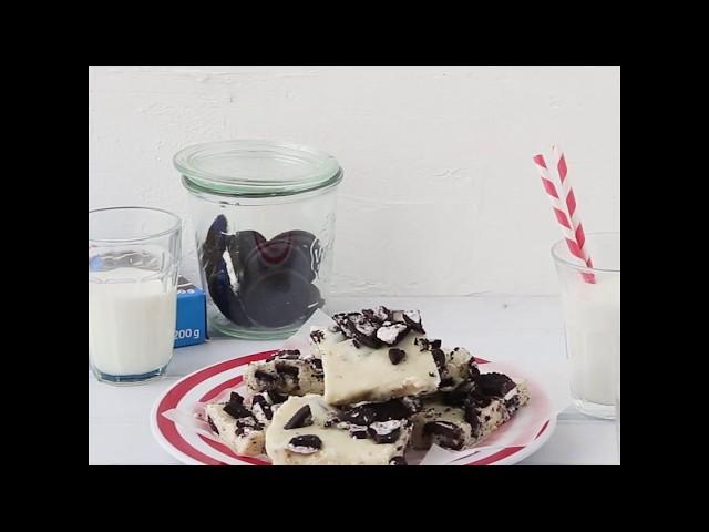 3-Ingredient Dessert - Cookies & Cream Fudge