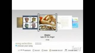 SingStar Pop PlayStation 2 Gameplay - Song selection