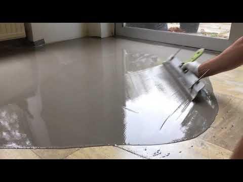 Genoeg Cementdekvloer egaliseren - Albano Vloertechniek - YouTube VR28