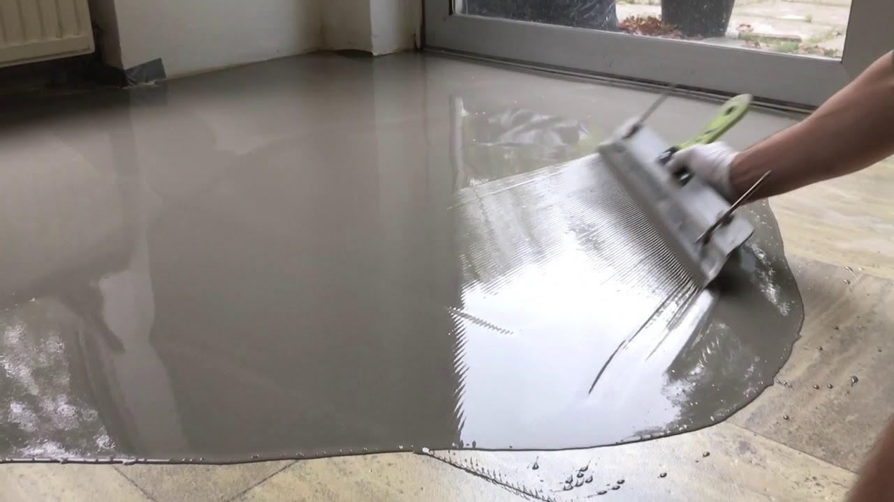 Zeer Cementdekvloer egaliseren - Albano Vloertechniek - YouTube BH05