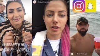 WWE Snapchat/Instagram Moments ft. Alexa Bliss, The IIConics, Carmella, Karl Anderson n MORE
