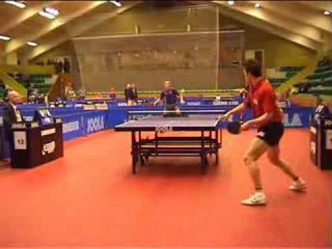 Alan Cooke vs Joao Monteiro amazing table tennis rally
