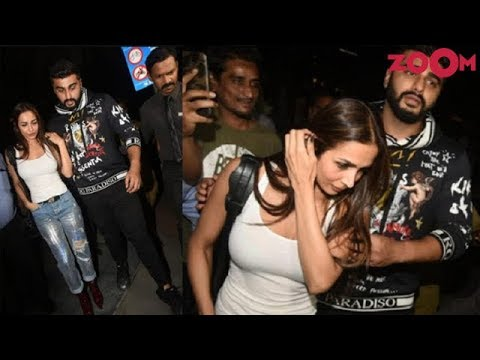 Arjun Kapoor & Malaika Arora spotted together at a restaurant