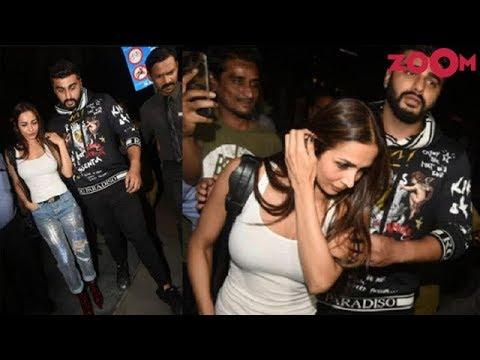 Arjun Kapoor & Malaika Arora spotted together at a restaurant