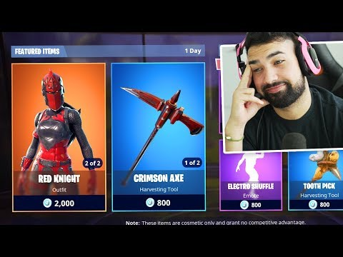 Buying Fortnite RED KNIGHT Skin.. BUT THERES A PROBLEM