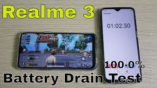 Realme 3 4230mAh Battery Drain Test (100-0%)