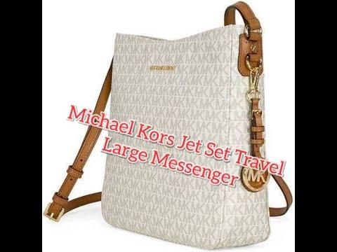 Michael Kors  Jet Set Travel Large Messenger Bag Crossbody MK Signature 2019