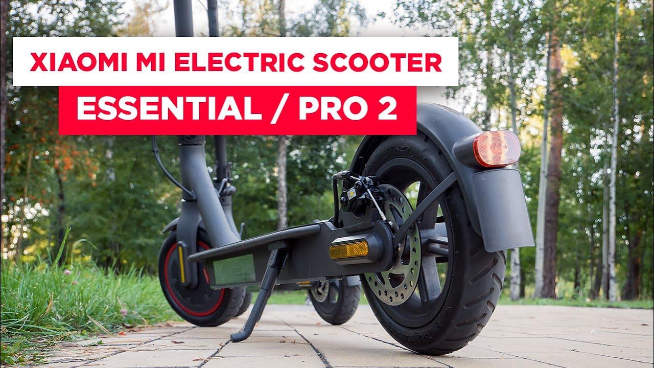 Obzor Elektrosamokatov Xiaomi Mi Electric Scooter Pro 2 I Mi Electric Scooter Essential Youtube