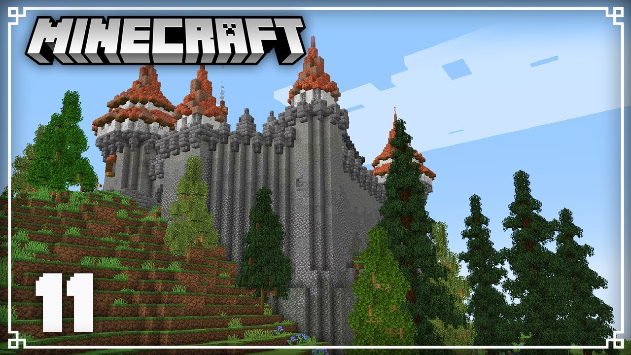 Finishing the exterior of the Castle!   Minecraft 1.17 Survival Lets Play