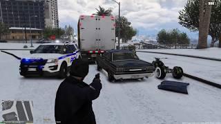 GTA 5 MOD - IMPALA SNOW PATROL - NO COMMENTARY (GTA 5 REAL LIFE POLICE PC MOD)