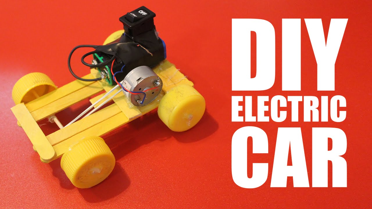 how to make a battery powered car diy electric car youtube