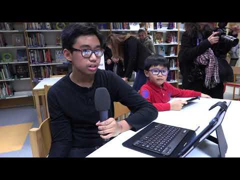 Remise de tablettes aux élèves du collège Georges-Braque