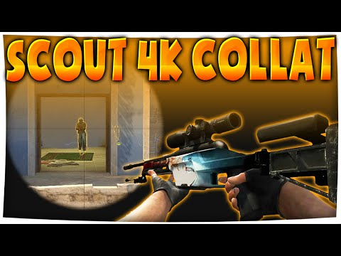 CS:GO - Scout 4 KILLS WITH 1 SHOT (4k Collateral Sick Scout Play)