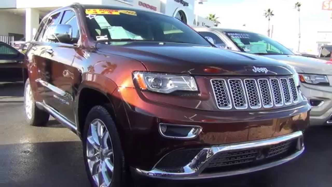 2014 Jeep Grand Cherokee Summit Chapman Dodge Las Vegas 89104 #J4404    YouTube