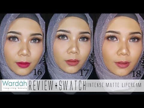 swatches-wardah-exclusive-matte-lipcream-no-16,-17,-18-(bahasa)