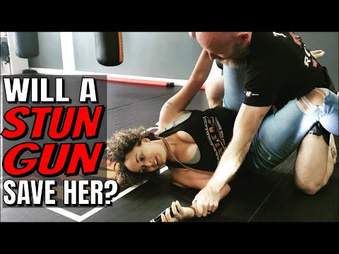 Stun Gun Test with Untrained Female | Sabre vs. Vipertek Stun Gun/Flashlight Review