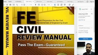 شرح ل الكتب الخاصة  FE Civil Exam