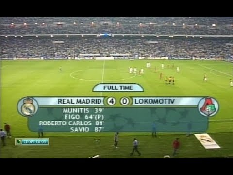 Реал Мадрид 4-0 Локомотив. Лига чемпионов 2001/2002