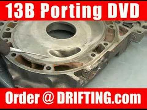 Mazda rx 7 13b rotary engine porting youtube mazda rx 7 13b rotary engine porting maxwellsz