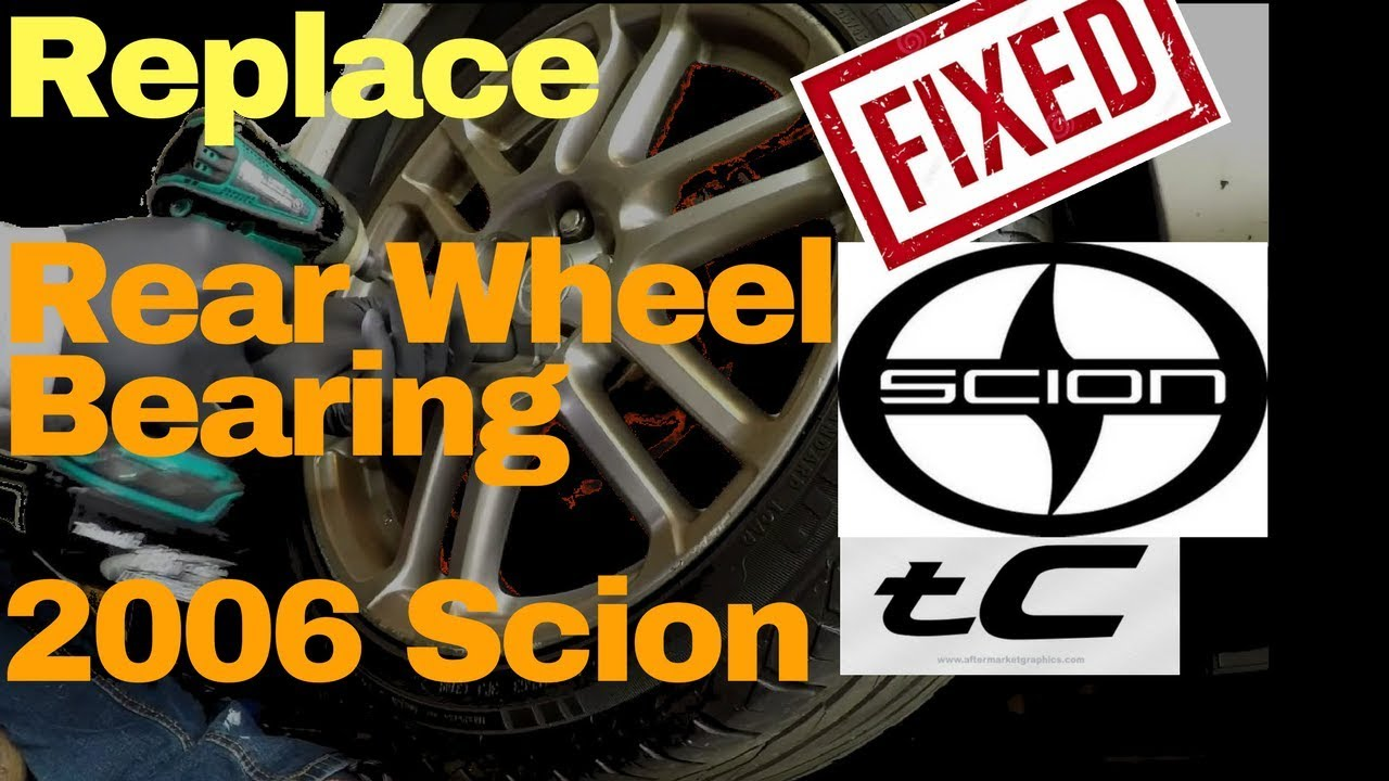 Diy scion tc rear wheel bearing hub n brake caliper replace 1080p