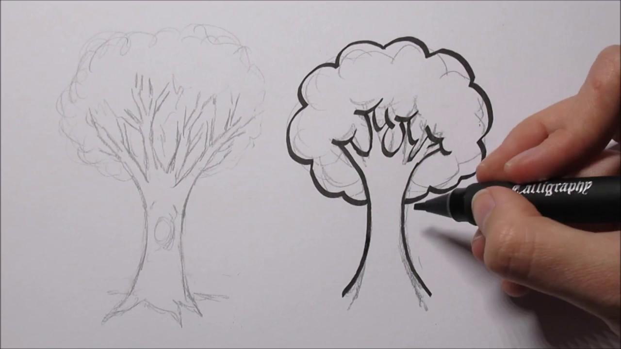 zo teken je een boom in stappen