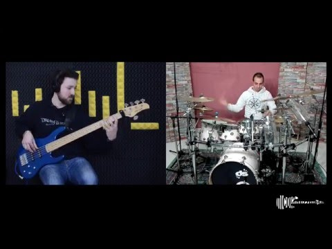 Dream Theater - Erotomania Split Screen Cover (Bass & Drums) ♫