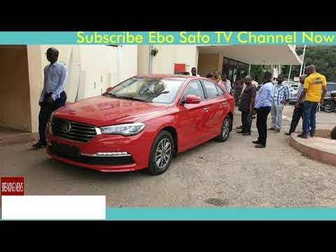 Check out Energy Minister from Ghana reaction after his purchased Kantanka car was delivered to him
