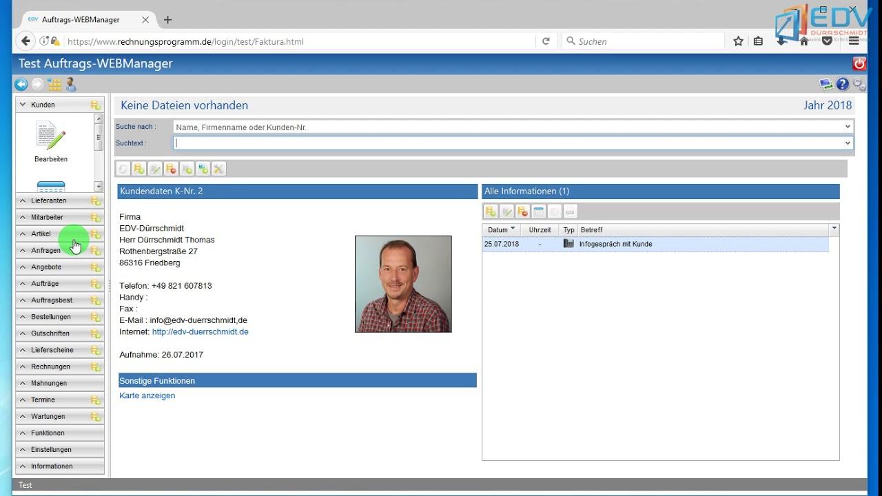 Dokumentenablage Im Auftrags Webmanager
