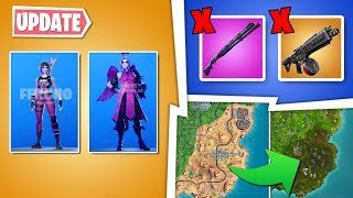 * NEW * Fortnite UPDATE: removed weapons, new skins pack, gameplay changes..