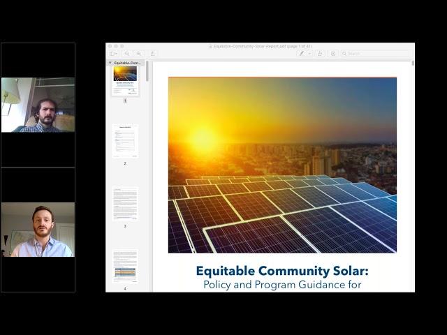 Webinar: Equitable Community Solar
