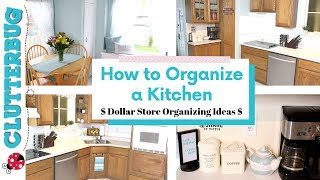 How to Organize a Kitchen Fast - 💲Dollar Store Organizing Ideas 💲