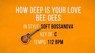 How Deep Is Your Love - Guitar Instrumental - Backing Track