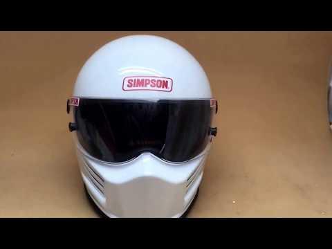 Simpson Bandit Crash Helmet Car Racing Bikers  Motorsport SA2015  Simpson-helmets.eu  01773835666