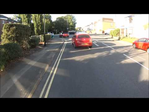 Cyclist shows no consideration for other road user