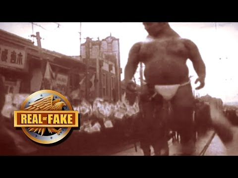 GIANT MAN CAUGHT ON CAMERA - real or fake