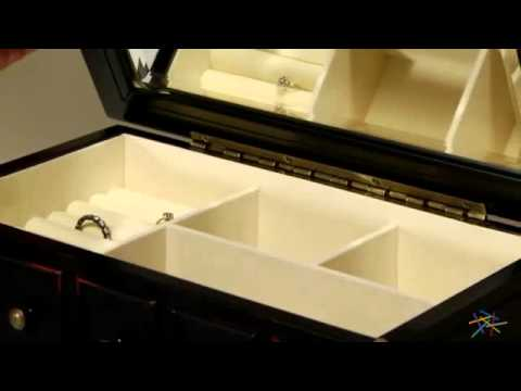 Josie Apothecary Black Wooden Jewelry Box - 13.5W x 15.5H in. - Product Review Video