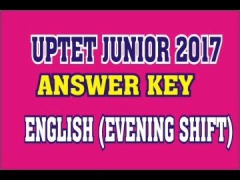 UPTET 2017  (JUNIOR) ENGLISH. ANS KEY