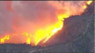 usa forest fires california wildfires rage in hills northeast of los angeles