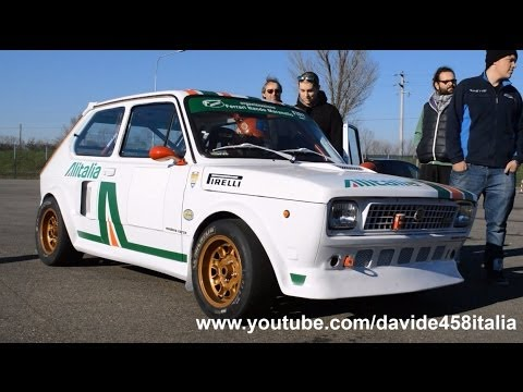 Fiat 127 w/ Alfa Romeo V6 Turbo engine: start up and track