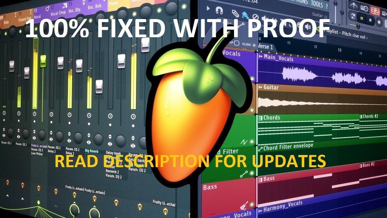fl studio crackling after export