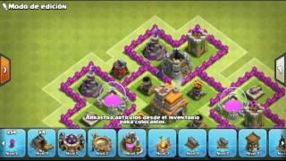 Diseño de aldea th7 sin rey barbaro clash of clans maxi agüero