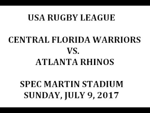 Warriors vs. Atlanta Rhinos - July 9, 2017