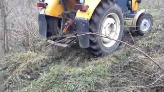 Ursus c-360 wyrywanie drzew