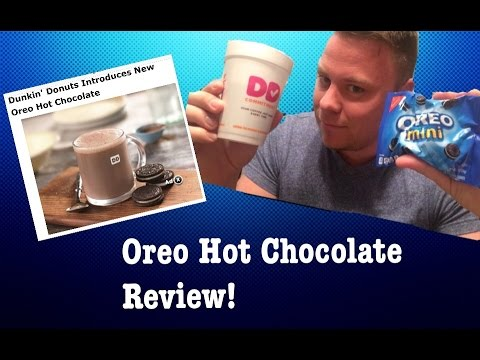 Dunkin Donuts Oreo Hot Chocolate Review The Showstopper Shows Nationalcoffeeday